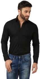 agarwal enterprices Boy's Solid Formal Black Shirt