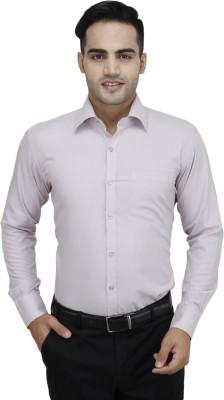 Da Vinci Men's Solid Formal Purple Shirt