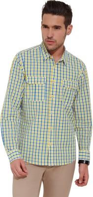 Slub By INMARK Men's Checkered Casual Yellow, Blue Shirt
