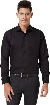 University of Oxford Men's Solid Formal Black Shirt