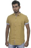 Beau Men's Solid Casual Gold Shirt