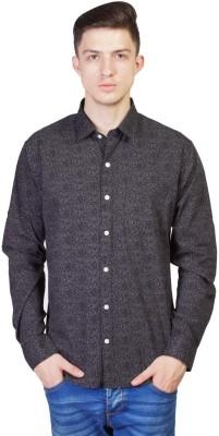 Seaboard Men's Printed Casual Blue Shirt