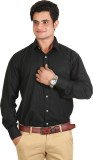 Adventure Men's Solid Formal Black Shirt