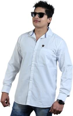 vigrollshirts Men,s, Boy's Solid Casual, Festive White Shirt