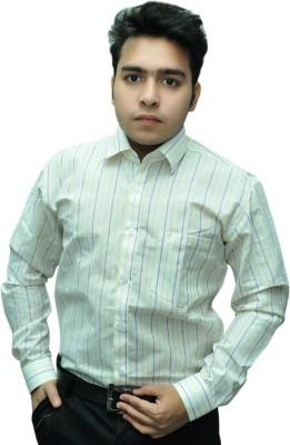 Fashion Tree Men's Striped Formal Multicolor Shirt