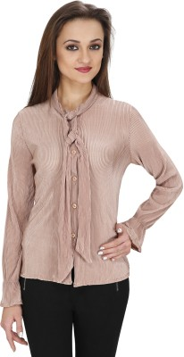 Svt Ada Collections Women's Solid Party Beige Shirt