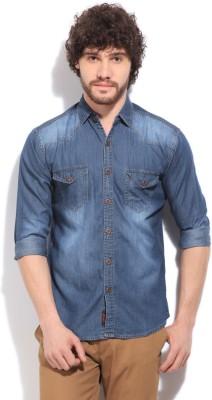 High Star Men's Casual Blue Shirt