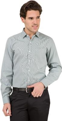 Mark Taylor Men's Checkered Formal Green Shirt