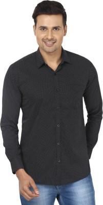 Edinwolf Men's Printed Casual Black, White Shirt