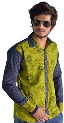 Sharp Fashion Men's Printed Casual Green Shirt