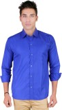 Yuva Men's Solid Casual Blue Shirt