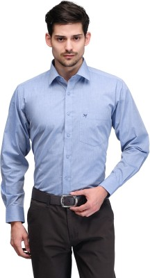 Club Morocco Men's Solid Formal Light Blue Shirt