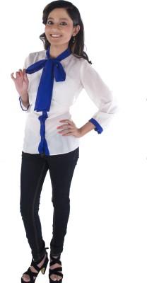 Buenos Dias Women's Solid Formal White Shirt