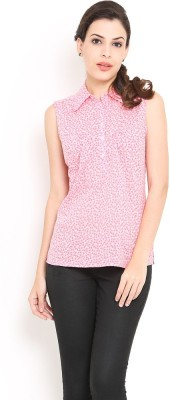 Trend Arrest Women's Printed Casual Pink Shirt