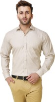 Austin m Formal Shirts (Men's) - Austin-M Men's Solid Formal Beige Shirt