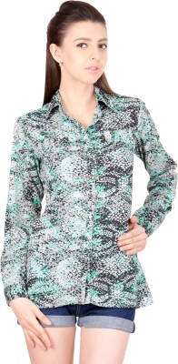 Crosstitch Women's Printed Party Multicolor Shirt