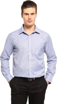 Fx Jeans Co Men's Solid Formal Blue Shirt