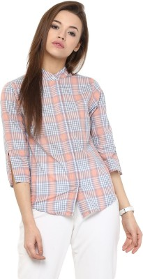 The Office Walk Women's Checkered Formal Multicolor Shirt