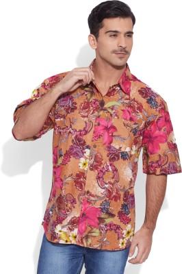 Very Me Men's Floral Print Casual Multicolor Shirt