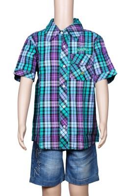 Chutti Pluss Boy's Checkered Casual Multicolor Shirt
