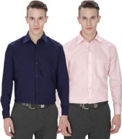 Jss Fashions Formal Shirts (Men's) - Jss Fashions Men's Solid Formal Multicolor Shirt(Pack of 2)