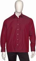 Cotton Natural Formal Shirts (Men's) - Cotton Natural Men's Solid Formal Red Shirt