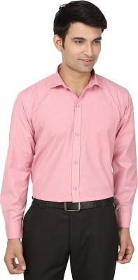 Fashion Flag Men's Solid Formal Pink Shirt
