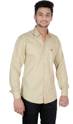 Jevis Men's Solid Casual Brown Shirt