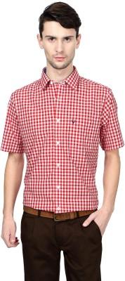 Allen Solly Men,s Checkered Formal Red Shirt