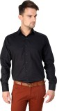 Vaak Men's Solid Casual Black Shirt