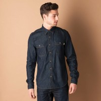Timberland Formal Shirts (Men's) - Timberland Men's Solid Formal Blue Shirt
