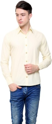 Shreebalajitraders Men's Solid Formal Yellow Shirt