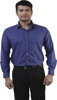 Lee Marc Men's Solid Formal Light Blue Shirt