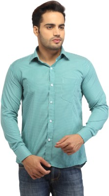 Pede Milan Men's Checkered Casual Light Green Shirt
