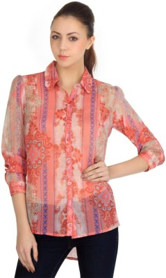 Zeupic Women's Floral Print Casual Multicolor Shirt