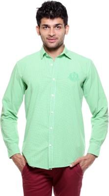 Fashion My Day Men's Checkered Casual Green Shirt