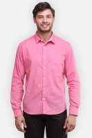 Four One Oh Formal Shirts (Men's) - Four One Oh Men's Self Design Formal Pink Shirt