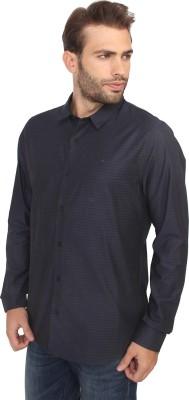 Calvin Klein Men's Striped Casual Blue Shirt