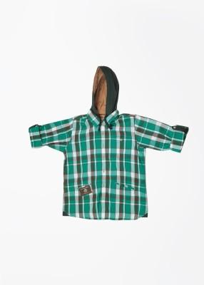 U.S. Polo Assn. Boy's Checkered Casual Green Shirt