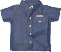 FS Mini Klub Baby Boys Solid Casual Blue Shirt