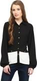 Rare Women's Solid Casual Black Shirt