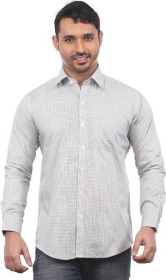 Chill Men's Printed Formal Grey Shirt