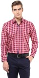 The Vanca Men's Checkered Formal Red Shi...