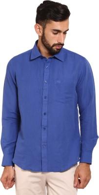 Classic Polo Men's Solid Formal Dark Blue Shirt