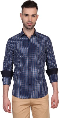 Urban Nomad By INMARK Men's Checkered Casual Blue Shirt