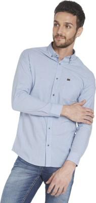 Globus Men's Checkered Casual Blue Shirt