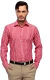 Frank Jefferson Men's Striped Casual Red...