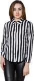 Panit Women's Striped Casual Black, Whit...