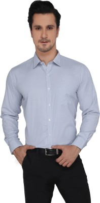 Devaa Men's Solid Formal Grey Shirt