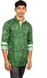 Blue Ribbon Men's Printed Casual Green S...